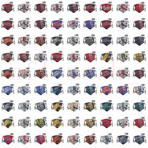 DHL-freie Verschiffen 2020 neue Designer Gesichtsmaske magischer Schal Masken Staubmaske Staub Baseball-Team Masken PM2.5-Maske kann bestellt werden gemischt