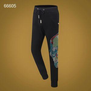 2020SS Women Mens Designer Luxury Pants PP Phillip Plain Trousers Stylist off champ white Skull supre ape Hoodie Sweater pant 13