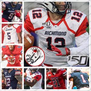 Costumbre 2020 Richmond arañas Fútbol # 5 Keyston Fuller 10 Beau Inglés 12 Joe Mancuso 15 Isaac Brown Hombres Jóvenes Kid jerseys 4XL