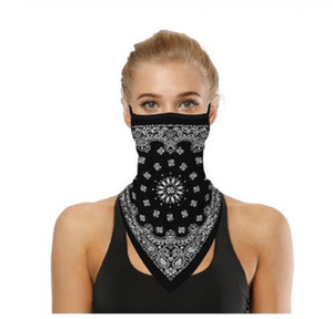 Máscara Facial Outdoor Capa Ciclismo Moda Impresso Bib Lenços Multi funcional Seamless Quick Dry Hairband lenço principal Bandana