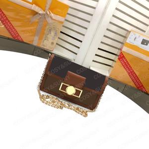 Kadınların çapraz kapanış zincir çanta tek omuz popüler kadın çanta için Şık yeni sığır derisi küçük kare çanta