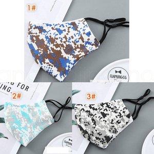 Thin Camo für Männer und Frauen verstellbaren Sommer weiche atmungsaktive Outdoor-Tarnung Designer Adult Masken Maske earloop FFA4022-1