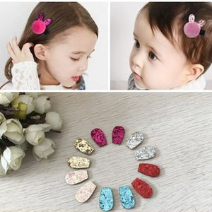 DIY clothing hair material super cute flash powder DIY accessories small ears fabric decoration semi-finished products accessories