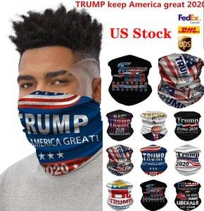 Máscaras de los EEUU Stock deportes de ciclo unisex Bufanda Pañuelo Pañuelos Pañuelo de cuello de la mascarilla al aire libre Trump Keep America Gran bufandas FY9156