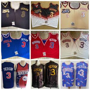 Allen Iverson Philadelphie76ersHommes Retro Mitchell Ness 2000-01 Swingman Basketball Jersey