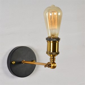 Vintage luces de pared LED 110V 220V E27 metal Lámparas de pared Decoración simple solo golpe la lámpara de pared rústico retro iluminación Iluminación