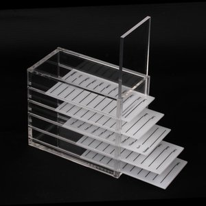 5 Layer Eyelash Extension Storage Box Acrylic Lash Holder Pallet for Individual Volume Lash Extension Display Stand Makeup Tools