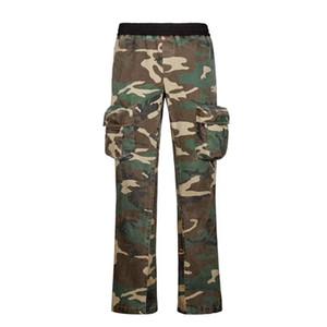 20ss Uomini Donne Flares High Street Fashion lavato Boot Cut Pantaloni Tooling Pantaloni Pantaloni sportivi Pantaloni felpa gamba larga pantaloni HFYMKZ249
