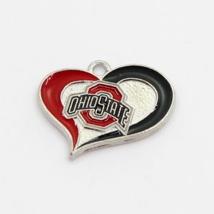 NCAA Team Ohio State Buckeyes Dangle Charms Sports DIY Bracelet Necklace Pendant Jewelry Hanging Charms