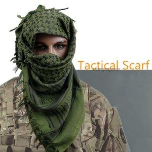 Tactical capo Sciarpa Piazza Bandana Cacciare Passeggiate Camo Sciarpa Araba Uomini Donne inverno antivento Sciarpe arrampicata Mask