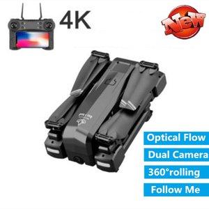 Новый 4k WIFI FPV RC Drone С 4k HD Двойная камера оптического потока Follow Me Headless Mode RC Helicopter 18Mins игрушки играть лучшие подарки