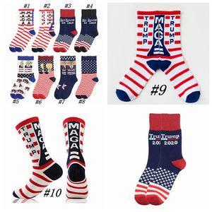 Trump Président Socks MAGA Trump Lettre Bas rayé étoiles Drapeau américain Sports Chaussettes Trump 2020 Sock CYZ2526