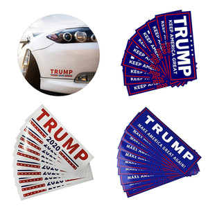 Trump Autoétiquettes 76 * 23cm Keep Make America Great Encore une fois Donald Trump autocollants autocollant pour voiture Nouveauté articles 10pcs / set 500sets OOA6901