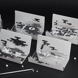 YaMinSanNiO Specchio Biglietti d'auguri vuoto Capodanno saluto festoso Inviti cartolina Schede creativo Christmas Gift Card