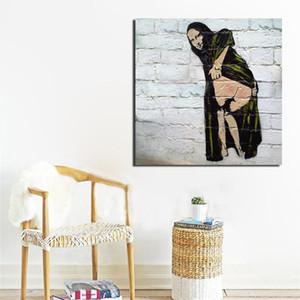 Pittura Pittura Wall Art Canvas Prints parete astratta Banksy Mona Stampe d'arte della decorazione della casa poster Immagini per Soggiorno Camera da letto hotel