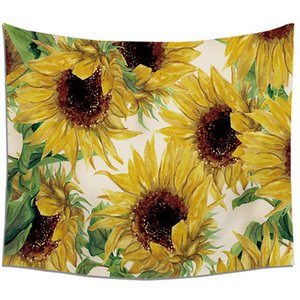 Wall tapestry Sunflower wall hang tapestry tablecloth tapestry home decoration murals Decorated beach towel sitting blanket A06