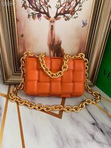 20 новых дамы мешки плеча итальянский высокого класса качества кожи цепи коробки мешок Мода стиль тенденции Ручной сплетенный мешок посыльного