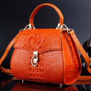 ourui true crocodile women handbag One shoulder aslant Female bag summer women bag