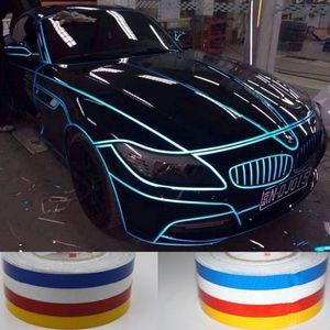 Decal réfléchissant de voiture de moto de haute qualité pour BMW Ford Focus Mini Cooper Accessoires extérieurs Accessoires de sécurité Corps Vinyle autocollant 2cm * 5