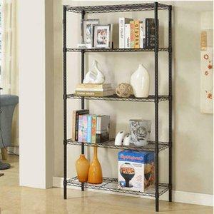 """71x36x14"""" 5 Tier Wire Rack Shelf Adjustable Unit Garage Kitchen Storage Black"""