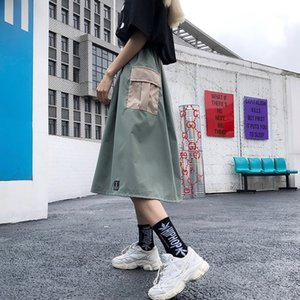 autumn s pleated female summer ins Super fire a word High waist skirt female umbrella skirt slim work dress