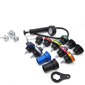 18PCS Water Tank Leak Detector Car Cooling System Radiator Pessure Tester Kit Universal Car Diagnostic Repair Gauge Tool Kit