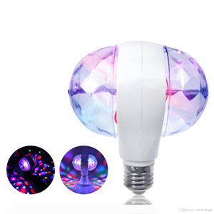 Mini Strobe Bulb Lamps LED DJ Stage Light RGB Full Color Home Party Auto Rotating Magic Effect Lights