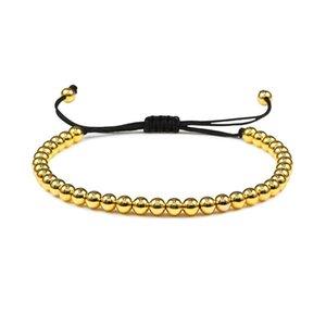 Minimalist Adjustable Gold Braid Bracelet Copper Ball Beads Male Bracelet Bohemia Anklets Woman Chain Handmade Gorgeous Jewelry