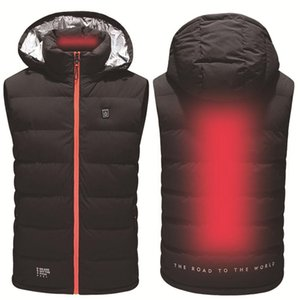 Outdoor Men Smart Electric Heated Vest USB Heating Vest Winter Thermal Cloth Feather Hot Sale Camping Hiking Warm Hunting Jacket