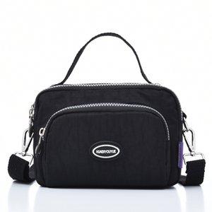 Women Waterproof Nylon Crossbody Bags Travel School Message Bag For Female Ladies Solid Zipper Pack Tote Shoulder Bag Handbag