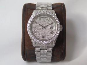 mens de alta qualidade assistir 904L diamante relógio reloj de lujo 2836 Movimento relógios semana Calendário dupla de tempo automático montre de luxe V1