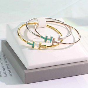 2020 bijoux de créateurs de lujo femmes pulseras de la pulsera amor doble t unilateral pulsera brazaletes de diseño diamante de la moda