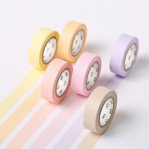 MT Masking Tape en colores pastel de color sólido Washi Tape 15mm * 10m 12 colores de Japón 2016
