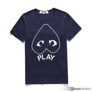 2017 Best New G 1 CDG cuore festa gioco nuovo cuore degli amanti della camicia cotone di marca del T-shirt marea pesca T backwinding nero lettere