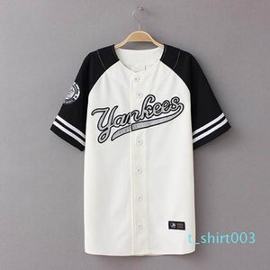 Wholesale-2016 New Summer Hip Hop Sports Fashion Baseball T shirt Korean style Loose Unisex Mens Womens Tee Tops Tide mujeres camiseta t03
