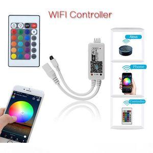 RGB LED Strip Tape SMD 5050 RGB Strip Light 60led m Waterproof Non Waterproof Flexible LED Ribbon + WIFI control + Power supply