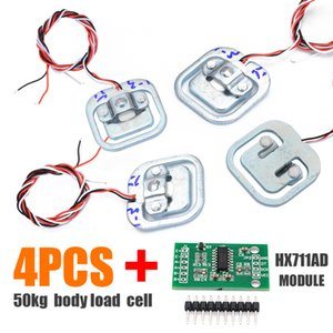 Tools New 4pcs 50KG Human Scale Body Load Cell Resistance Strain Weight Sensor + HX711 AD Module Pressure Sensors Measurement Tools