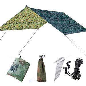 BY 210T 방수 야외 다기능 대피소 텐트 초대형 캐노피 그늘 해변 캠핑 텐트 삼각형 캐노피