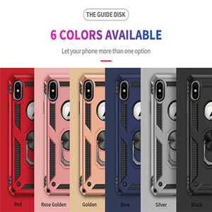 Hybrid Armor Case Magnetic Ring Stand Kickstand case For iPhone 11 pro XR 7 8 6S plus galaxy s20 S10 A20