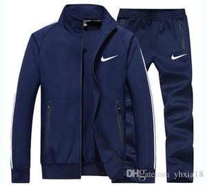 Nike Los hombres de chándal para hombre Deportes Juro Conjunto 2 piezas + ropa deportiva de traje de pantalones ropa de entrenamiento chándales de los hombres más tamaño 4XL