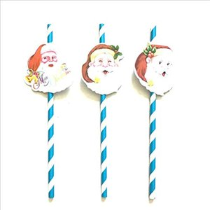 Christmas Tree straw paper straw Christmas Decorations straw For Home Happy New Year candy color 2018 Pendant