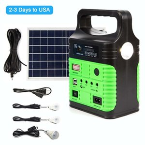Solar Panel Generator LED Light USB Charger System Back-up Electric Home Outdoor