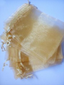 1000pcs gold organza gift bags 7x9cm party bags for women event wedding Drawstring bag Jewelry Display Bag Pouch accessories