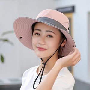 2020 Waterproof 50+ Sun Hat Bucket Summer Men Women Fishing Boonie Hat Sun UV Protection Long Large Wide Brim Bob Hiking Outdoor