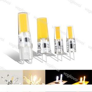 Светодиодные лампы COB G4 DC12V светодиодные фары 3W LED G9 Силиконовые лампы для хрустальной люстры Подвесные лампы Spotlight лампы EUB