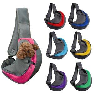 Outdoor Travel Pet Puppy Carrier Handbag Pouch Mesh Oxford Single Shoulder Bag Sling Mesh Comfort Travel Tote Shoulder Bag