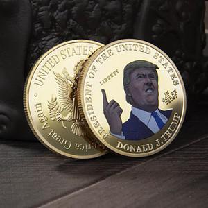 Presidente Trump Medaglia d'oro 2020 accessori per la casa US Election ricordo Moneta Trump stampa metallo Moneta Commemorativa DDA304