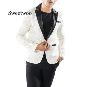 Sweetwoo Slim Fit Blazer Hombres 2020 de vestido de Prom floral floral Blazers Blazers elegante Blazer