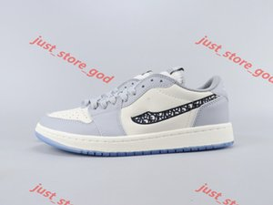2020 Officially revealed 35th anniversary D x J 1 I High OG collaboration Grey White French fashion style label Kim Jones xshfbcl