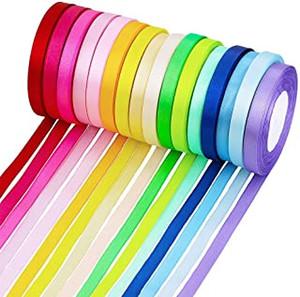 0.6cm Satin-Bänder Gewebe-Band-DIY-Kunstseide-Rosen Crafts Supplies Satin-Band für Geschenk-Paket Wrapping Nähen Party Hochzeit